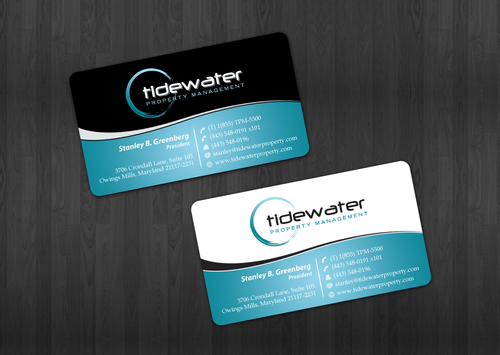 Tidewater Property Management, Inc. Business Cards and Stationery  Draft # 47 by einsanimation