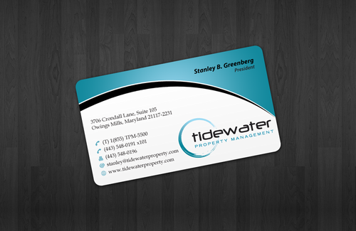 Tidewater Property Management, Inc. Business Cards and Stationery  Draft # 48 by einsanimation