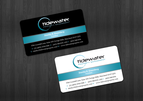 Tidewater Property Management, Inc. Business Cards and Stationery  Draft # 50 by einsanimation