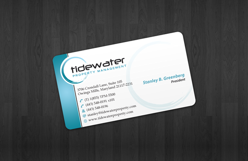 Tidewater Property Management, Inc. Business Cards and Stationery  Draft # 51 by einsanimation