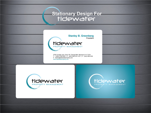 Tidewater Property Management, Inc. Business Cards and Stationery  Draft # 88 by GenBullzzzz