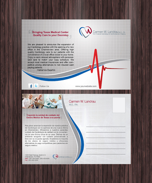 Postcard Design for Standrad Mail and e-mail / Web advertising of Cardiology Medical Office