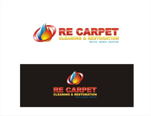 RE Carpet Cleaning & Restoration A Logo, Monogram, or Icon  Draft # 2 by muhammadd