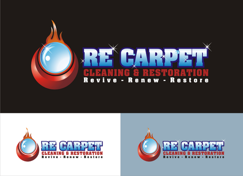 RE Carpet Cleaning & Restoration A Logo, Monogram, or Icon  Draft # 6 by onthel