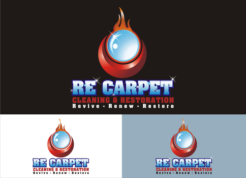 RE Carpet Cleaning & Restoration A Logo, Monogram, or Icon  Draft # 7 by onthel