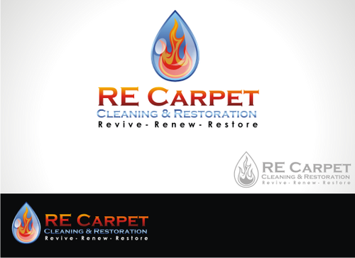 RE Carpet Cleaning & Restoration A Logo, Monogram, or Icon  Draft # 8 by alpino