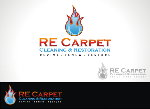 RE Carpet Cleaning & Restoration A Logo, Monogram, or Icon  Draft # 9 by alpino
