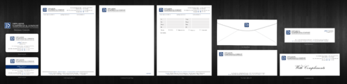 Letterhead Redesign, Complimentary Slip, Envelope, Fax Page, Business Card, Email Signature