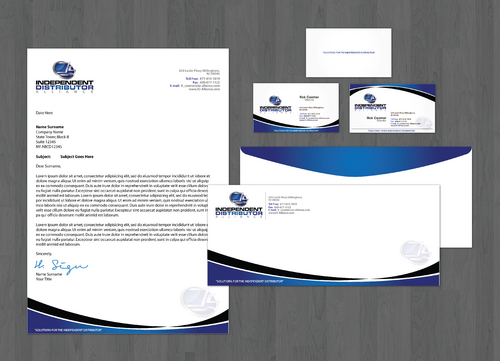Business cards, envelopes and letterhead