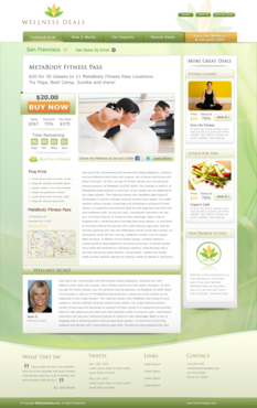 Daily deal site web template