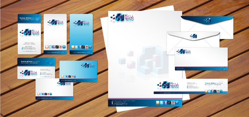 design for high tech consultant in 3D architecture Business Cards and Stationery  Draft # 86 by cArnn