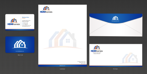 HDM homes business card/letterhead