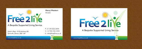 A Bespoke Supported Living Service Business Cards and Stationery  Draft # 58 by smartinfo
