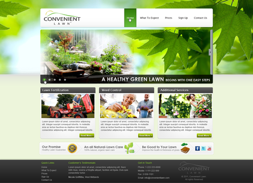 Design A New Homepage for Convenient Lawn