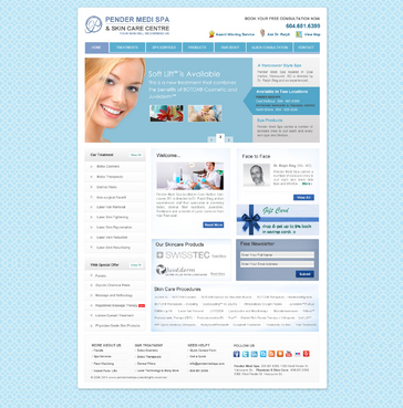 Website for Pender medi spa