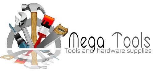 a business logo  company name is Mega Tools by Kbadeeb