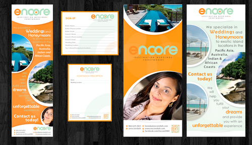 Pop-Up Banner, flyers, notepads
