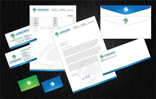 Biz cards, letterhead, envelopes