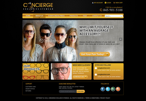 Concierge service for your eyewear needs-Providing exclusive styles at competitive rates