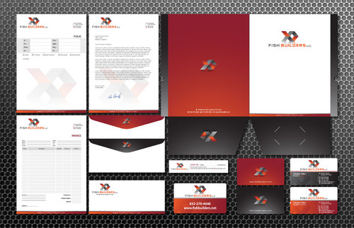 Business Card, Letterhead, envelope, fax, invoice, folder, yard marketing signage