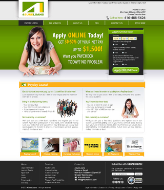 Promotional Pay Day Loan Site
