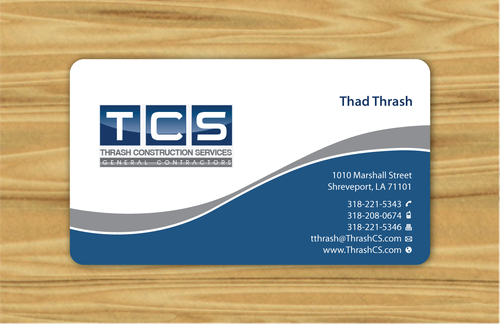 Tcs business card by thrash thrash construction services business cards and stationery winning design by artworkskingdom reheart Images
