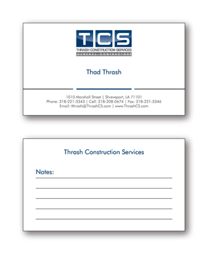 Tcs business card by thrash thrash construction services business cards and stationery draft 162 by cinco reheart Images