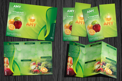 Professional Brochure design for AMY International - A Fresh Fruit Importing Company