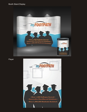 Booth Graphic, podium graphic, flyers