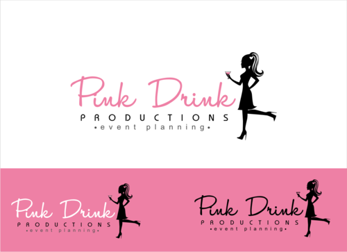 Pink Drink Productions  A Logo, Monogram, or Icon  Draft # 95 by gondezh
