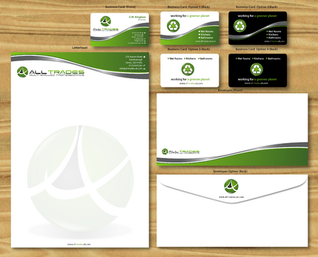 letter head, business card, envelope etc