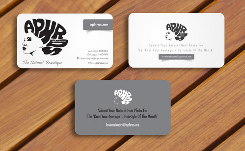 business card for aphros.me website