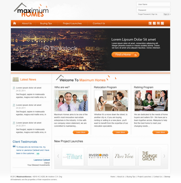 corporate website for real estate agency