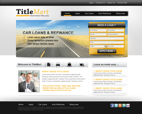 Auto title loans website design Web Design  Draft # 8 by pentacreative24