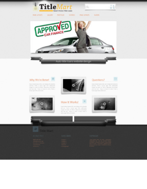 Auto title loans website design Web Design  Draft # 12 by bomns