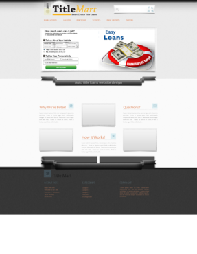 Auto title loans website design Web Design  Draft # 14 by bomns
