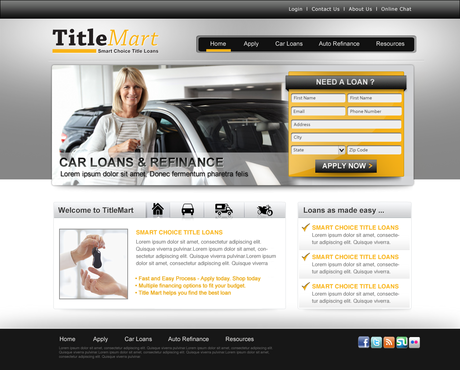 Auto title loans website design Web Design  Draft # 15 by pentacreative24
