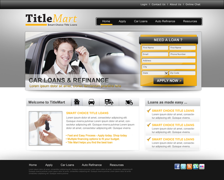 Auto title loans website design Web Design  Draft # 16 by pentacreative24