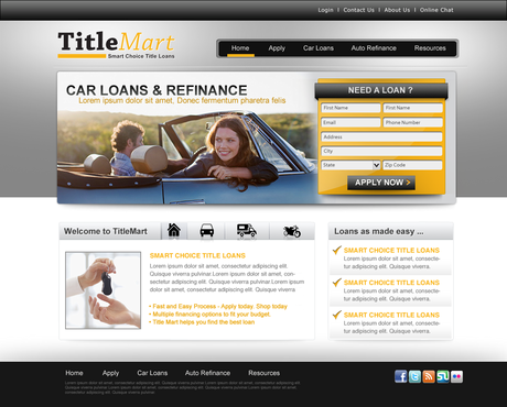 Auto title loans website design Web Design  Draft # 17 by pentacreative24