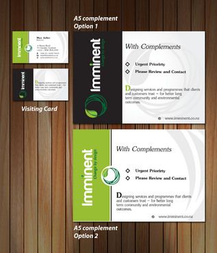 Imminent - a service design company Business Cards and Stationery  Draft # 151 by jtrozario