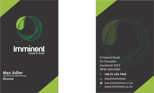 Imminent - a service design company Business Cards and Stationery  Draft # 160 by OMR84