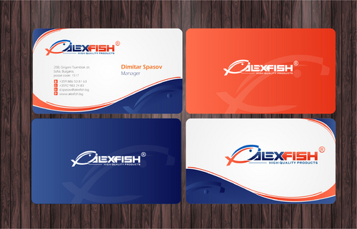 business card, seafood selling company Business Cards and Stationery  Draft # 204 by Achiver