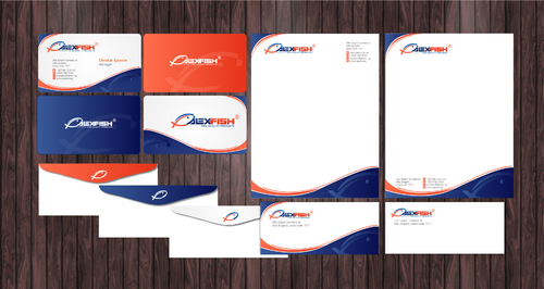 business card, seafood selling company Business Cards and Stationery  Draft # 205 by Achiver