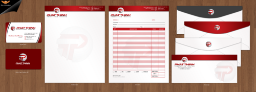 Business Card, Stationery (Letter head & Invoice)