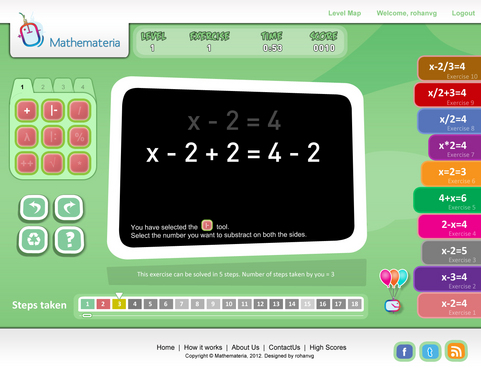 Mathemateria aims to make mathematics fun and easy for all through playful practise-exercises.