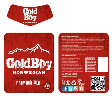 Bottle label coldboy brewery