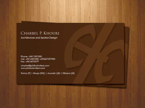 Personal business card (interior designer &architect)