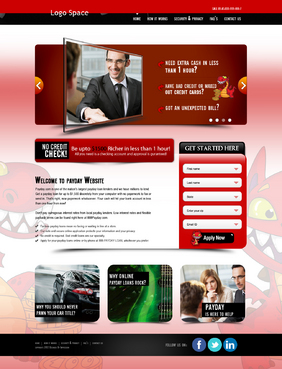 Want slide bar area and better design for home page Web Design  Draft # 3 by impression