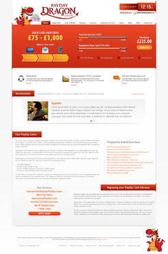 Want slide bar area and better design for home page Web Design  Draft # 9 by HisPresence