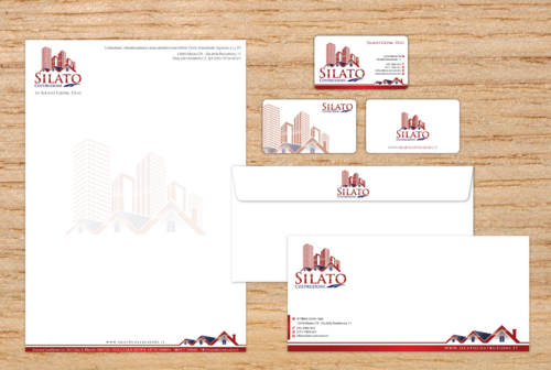 Business Cards, Stationery for Industry of Construction